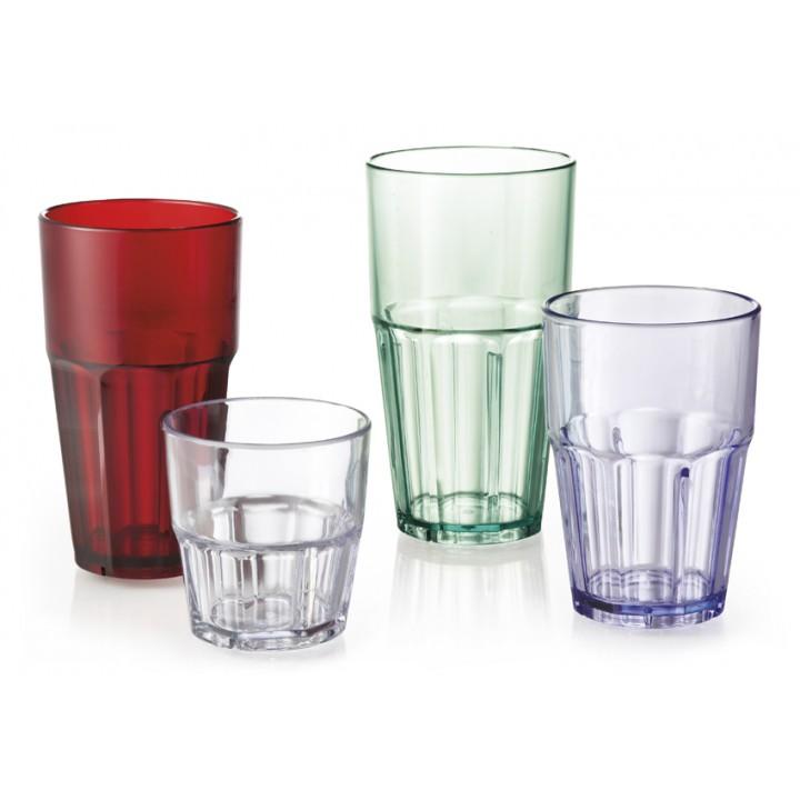 22 oz. Cooler Glass, Blue, SAN  - 72/Case