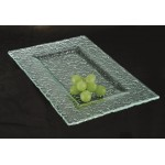 12''x8'' Glass Rectangular Platter, Jade, Glass  - 1/Case