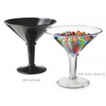 48 oz. Super Martini Glass, Black, SAN  - 3/Case