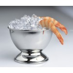 16 oz. Stainlees Steel Bowl w/ Pedestal, Stainless Steel  - 1/Case