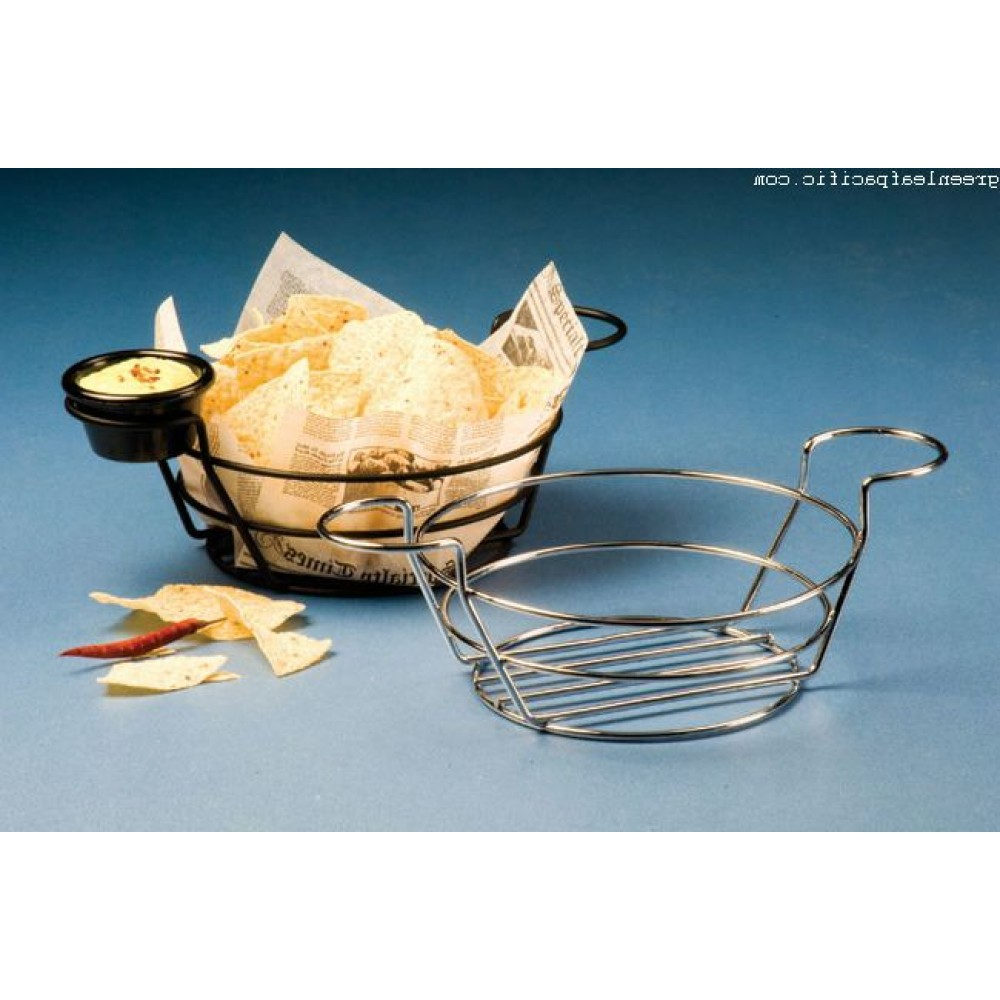 Round Wire Baskets with Ramekin Holders