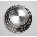 SEAFOOD TRAY, STAINLESS STEEL, DOUBLE WALL, 12 12 DIA. X 2-1/4 H