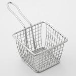 "4""x4"" Fry Basket, S/S, Silver - 24/Case"