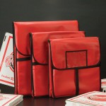 "24"" Square Pizza Delivery Bag - 10/Case"