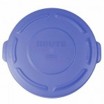 167 Ltr Trash Can Lid, Brute, Blue - 1/Case