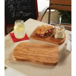 "10""x7"" Olive Wood Serving Board, Brown - 6/Case"