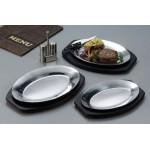 Sizzle Platter, Aluminum, 10-1/2 L 10-1/2 Lx7 W - 36/Case