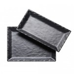 21Wx7Dx1H - Retcangle Faux Slate Platter