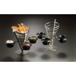 Conical Basket, Wrought Iron, Three-Cone Basket W/ Three Ramekins 5 Dia.x9 H - 12/Case