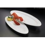 Melamine Platter, Boat, Large 28 Lx11-1/4 Wx1-1/2 H - 6/Case