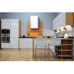 Teak inspired kitchen type 3. HPL