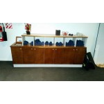 Gym towel sideboard. Ply, particle board, raintree