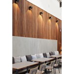 Slatted wall panels. Mahogany. per square meter