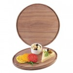 Cal-Mil 3052-78 Round and Oval Walnut Boards (12 DIAx.75H)