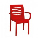 Stacking Armchair, Essenza Red - 4/Case