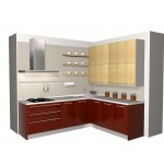 Particle board kitchen unit, HPL.