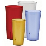 12 Oz. Pebbled Tumblers, Amber - 72/Case