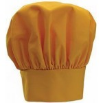 "13"" Chef Hat, Velcro Closure, Yellow - 24/Case"