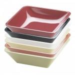 Cal-Mil 1707-10-64 Melamine Classic Square Bowls (Cranberry)
