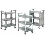 Closed-End Utility Cart with Plastic Uprights
