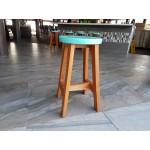 Casual round stool.. Mahogany.
