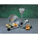 1.9 Ltr Strainer Funnel, Aluminum, Silver - 12/Case