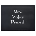 "7.75""W Value Wall Board, Black - 24/Case"