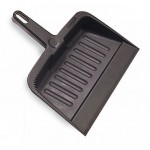 "8-1/4"" Dust Pan - Plastic, Charcoal - 12/Case"