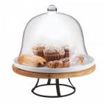 Cal-Mil 3481-99 Madera Cake Pedestal (12.75DIA - Porcelain Platter)
