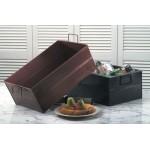 Tub, Hammered, Rectangular, Full-Size, Black 20-1/2 Lx12-1/2 Wx8 H - 4/Case