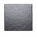 12Wx12Dx.25H Square Faux Slate Serving Platter