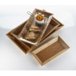 "18""x12"" Tray, Bamboo, Brown - 6/Case"