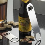 BOTTLE OPENER, LARGE FLAT, STAINLESS STEEL 7 L