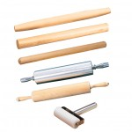 "13"" Rolling Pin, Aluminum, Silver - 6/Case"