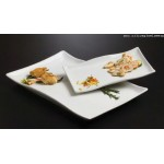 "14.3""x8.75"" Platter, Ceramic, White - 1/Case"