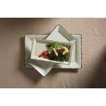 MELAMINE PLATTER, RECTANGULAR, ANTIQUE WHITE, SMALL 14-1/4 L X 7-1/2 W X 1-1/2