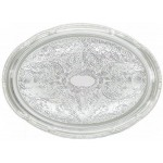 """18"""" x 13"""" Serving Tray, Oval, Chrome Plated - 12/Case"""