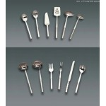 STAINLESS STEEL, NOTCHED SPOON, 12 L