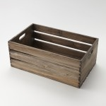 "20.5""x12.5"" Crate, Fir Wood, Vintage - 2/Case"