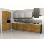 Panels kitchen unit, particle board and high gloss.