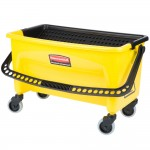 38L No Touch Microfiber Mop Bucket, Yellow - 1/Case