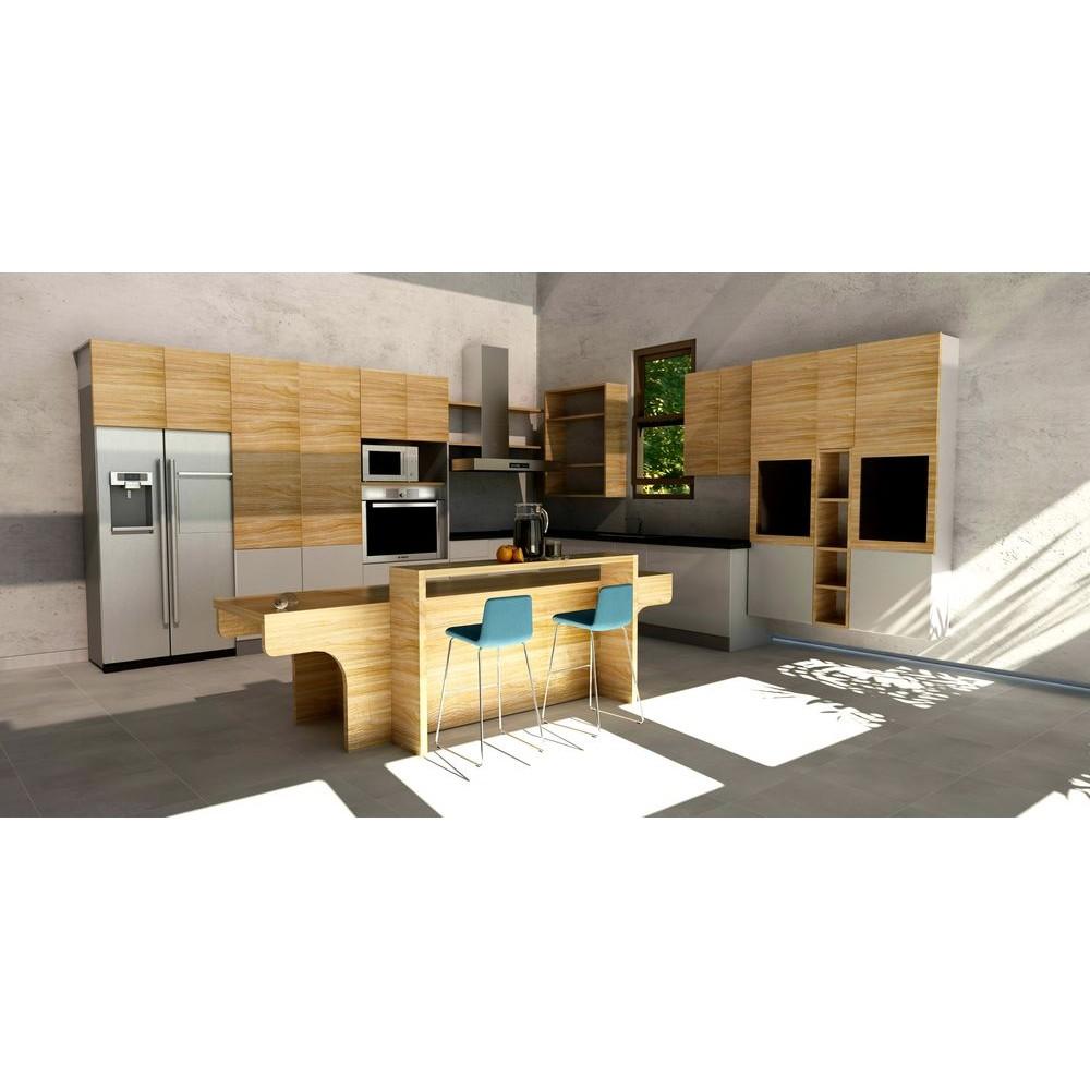 Kitchen Hpl: Riverside Kitchen With Island, HPL