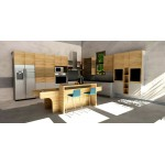 Riverside kitchen with island, HPL