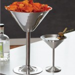Stainless Steel, Martini Glass Server, 80 Oz. 9 Dia.x15 Hx5-1/4 Deep - 4/Case