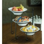 Stand, Round, Melamine Bowls Included 17-3/8 Hx9-3/4 W - 1/Case