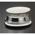 PLATE COVER, STAINLESS STEEL, OVAL, CUSTOM-FITTED, 11-3/8 TO 13 L X 8-5/8 W - 12/Case