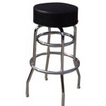 Bar Chair, Black Vinyl, w/ 2 Rings