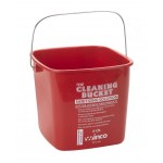6 Ltr Cleaning Bucket, Sanitizing Solution, Red - 12/Case