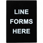 Sign, Line Forms Here Stanchion - 6/Case