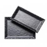 11.5Wx11.5Dx1H - Square Faux Slate Platter